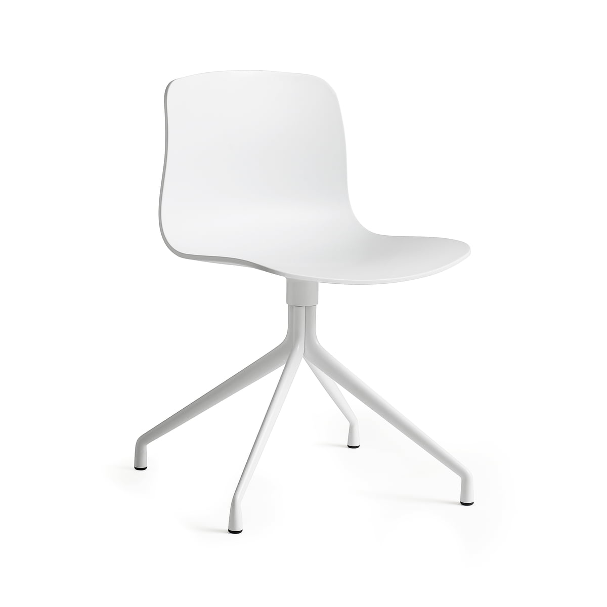Hay About a chair aac 10, aluminium hvid hvid, filtglider