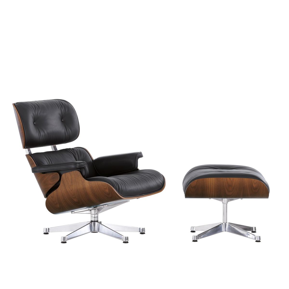 Vitra lounge chair i sort valn d i butikken for Vitra lounge chair nachbau