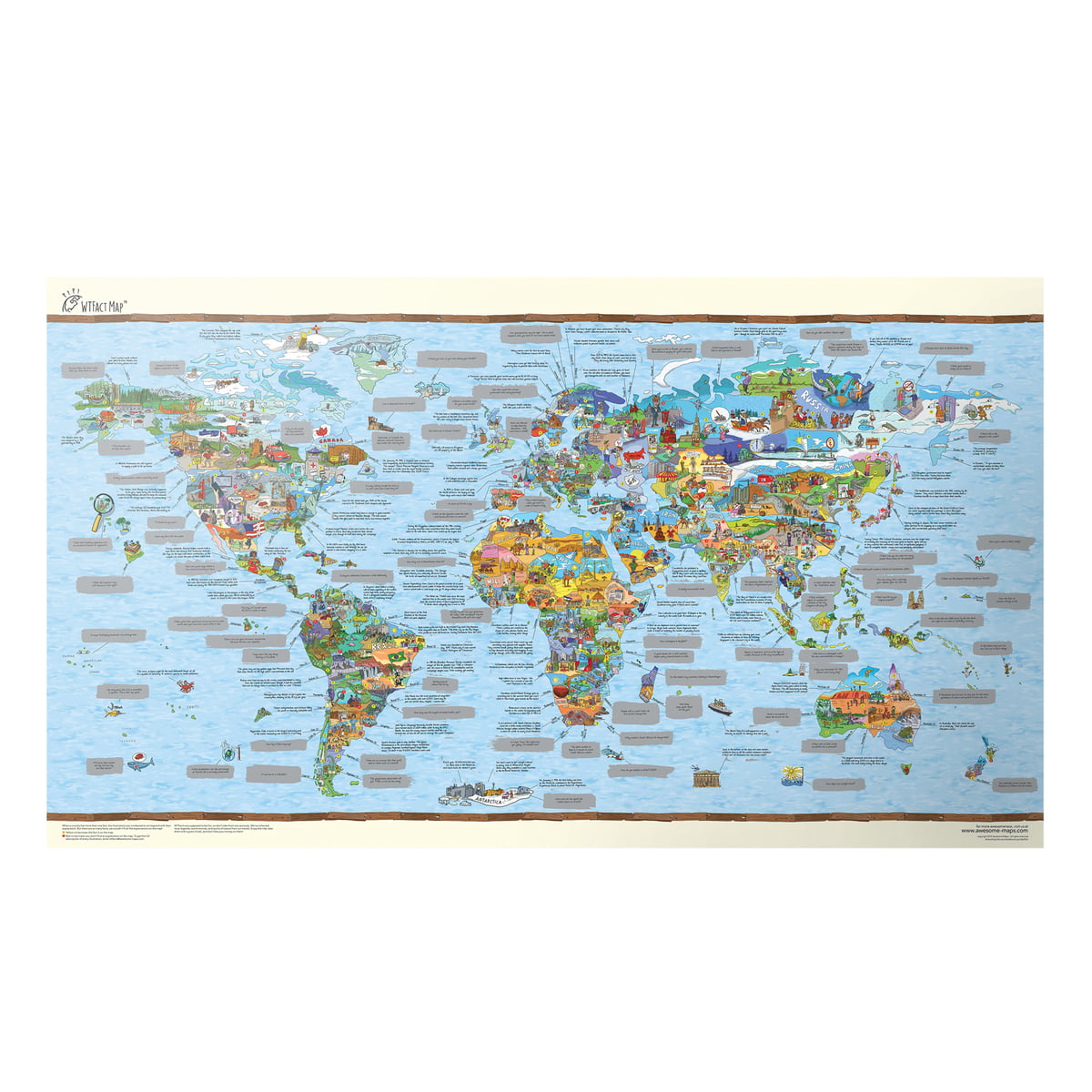 K b wtfact map fra awesome maps i vores shop for Awesome englisch