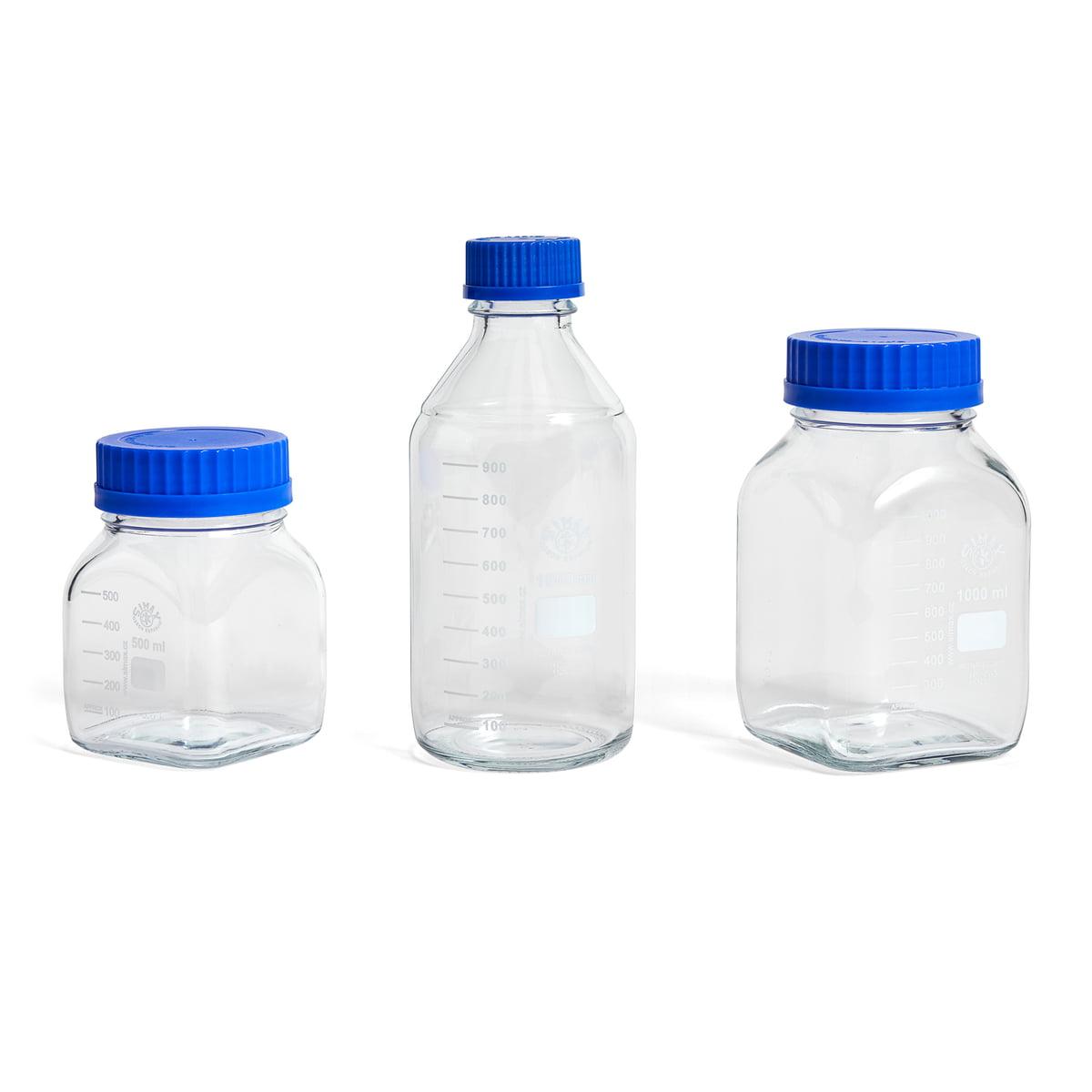 Hay – Laboratory Glass med låg, M, firkantetblå