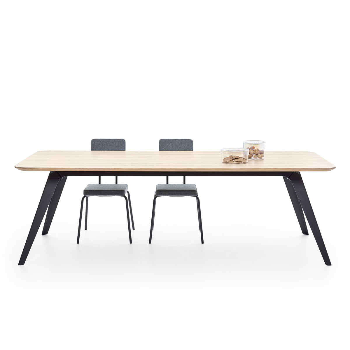 Puik Fold spisebord 200 × 95 cm, eg sort