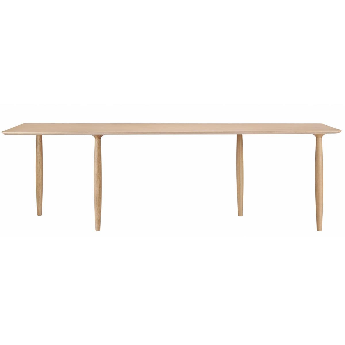 Norr11 Oku spisebord, ø 120 cm naturlig eg
