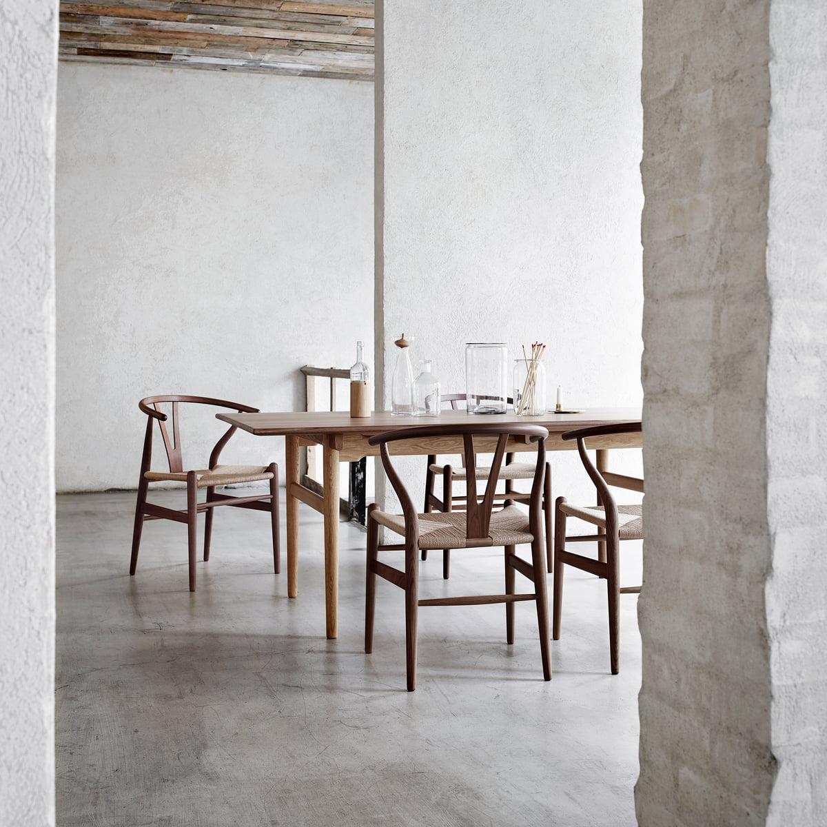 Carl Hansen – CH327 spisebord med udtræk, 190 x 95 cm, ludbehandlet eg