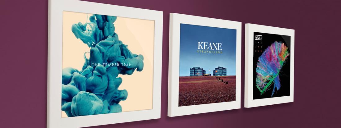 Flip Frame fra Art Vinyl er en klapramme til vinylplader. Ved siden af hinanden præsenteres samlerobjekterne på en stilfuld måde.