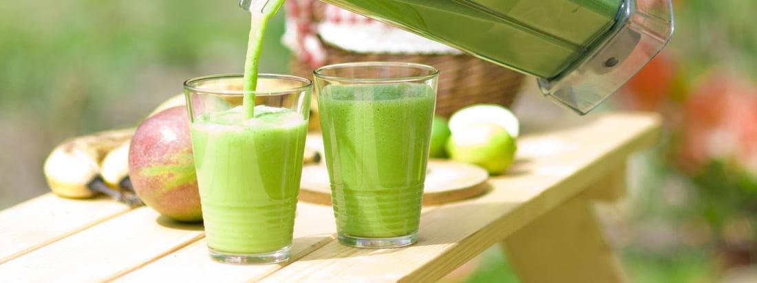 Blender fra Bianco blander grønne smoothies i et snuptag. Med Premium Wet Blender kanden serveres de friske og lækre drinks på den almindelige måde.
