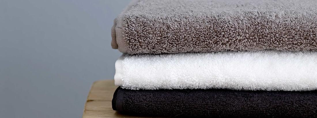 Södahl - Comfort håndklæde, sort, hvid og grå