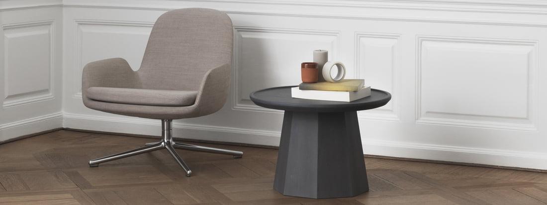 Normann Copenhagen - Pine sidebord og Bell lampen i stemningsudsigten. Normann Copenhagens produkter udstråler skandinavisk flair.