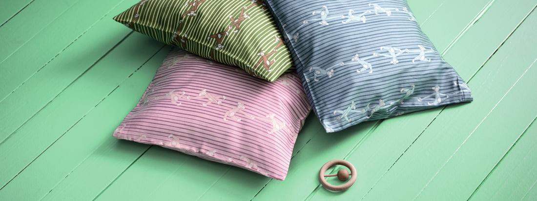 Kay Bojesens Monkey baby sengelinned består af et sæt. Et dynebetræk og en pudebetræk er inkluderet. De er også ideelle til at kombinere med hinanden.