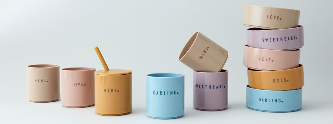 DARLING, SWEETHEART eller MINI-søde kopper lavet af forurenende, brudsikre og meget holdbare Tritan sikrer et glaslignende look og en ædel følelse.