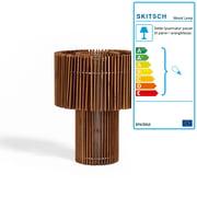 Skitsch – gulv- og bordlampe i træ