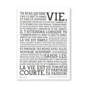 Holstee – den originale Manifesto-plakat (hvid)