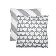 byGraziela – vendbart pudebetræk med hjerter, 40 x 40 cm