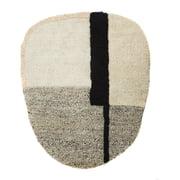 ames – Nobsa tæppe, 130 x 214 cm, grå/grå/cremefarvet