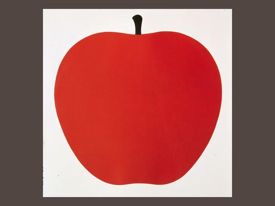 """Kunsttrykket """"Uno, la mela"""" fra Danese er et naturligt motiv designet af kunstneren Enzo Mari. Han skabte dette billede i 60'erne og 70'erne til glæde for børn og voksne."""