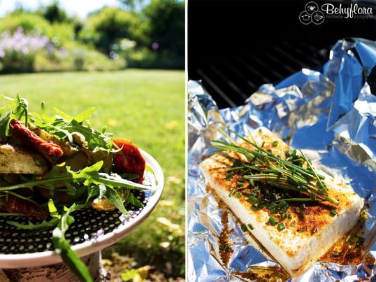Blogger Claudia fra Behyflora deler sine lækre og nemme opskrifter til din næste udendørs grillfest: middelhavsbagt kartoffel med hjemmelavet pesto. Lækkert!