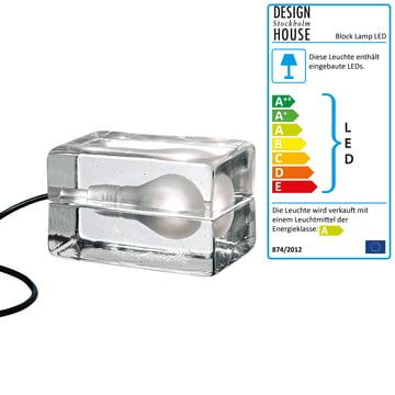 Design House Stockholm – Block Lamp LED i glas/sort