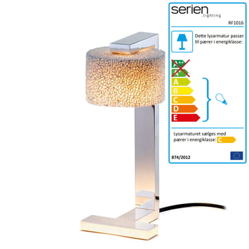 serien.lighting – Reef bordlampe i forkromet aluminium