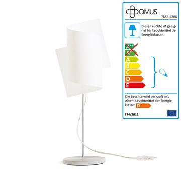 Domus – Loop bordlampe, aluminium