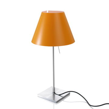 Luceplan – Costanzina bordlampe 1D13 LED, aluminium/orange