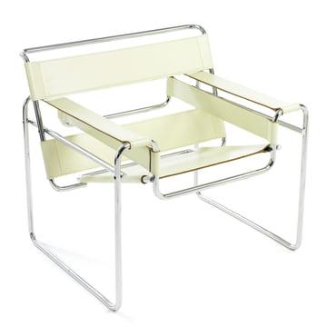 Knoll – Wassily stol – okselæder, naturhvid