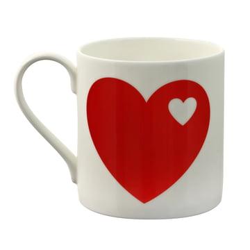 byGraziela – krus med hjertemotiv i rød