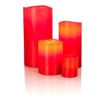 LED-vokslys fra Klein & More i rød