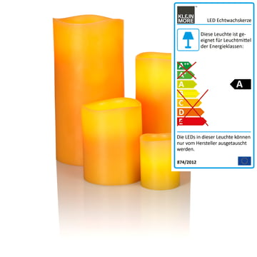LED-vokslys fra Klein & More med bivoks