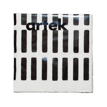 Artek – Siena papirserviet, stor, hvid/sort