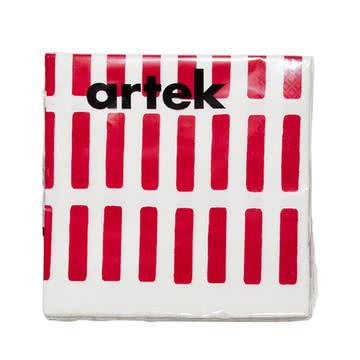 Artek – Siena papirserviet, stor, rød/hvid
