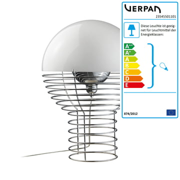 Verpan – Wire bordlampe, lille
