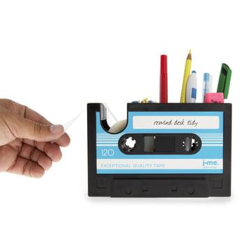 j-me – Rewind tapedispenser, blå – med indhold