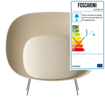 Foscarini – Stewie gulvlampe, elfenbensfarvet