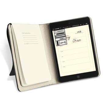 Moleskine – cover til iPad mini – åben