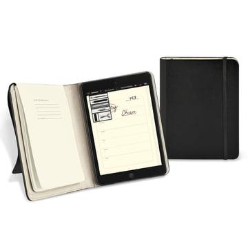 Moleskine – cover til iPad mini – åben og lukket
