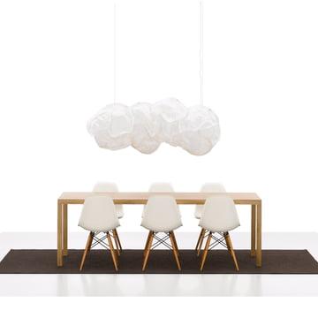 Vitra – Eames Plastic Side Chair DSW: Gruppe med Belux