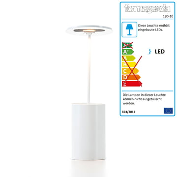 Formagenda – E.T. bordlampe – hvid