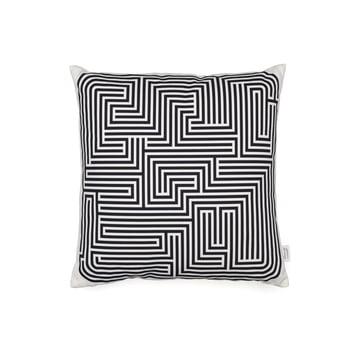 Vitra – Graphic Print pude – Maze 40 x 40 cm, sort