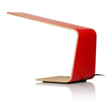 Led 1 bordlampe fra Tunto i rød