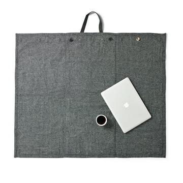 Menu – picnictæppe, 100 x 120 cm, mørkegrå