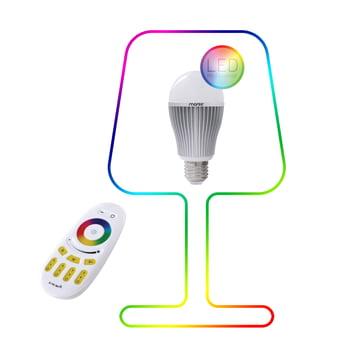 Moree – 9 W RGBW flerfarvet LED + fjernbetjening