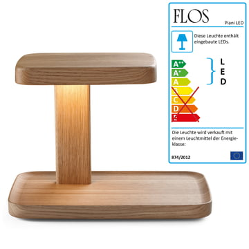 Flos – Piani Big bordlampe, træ