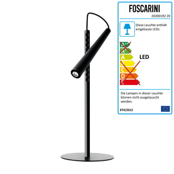 Foscarini – Magneto LED-bordlampe, sort