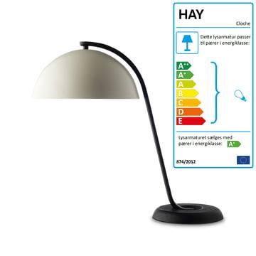 Hay – bordlampe i hvid