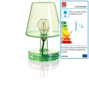Transloetje bordlampe fra Fatboy i grøn