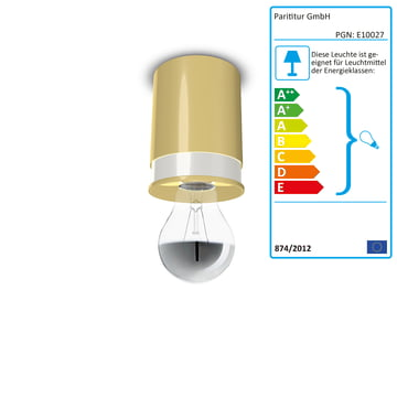 Colours loftslamper fra Twister Lighting i gul