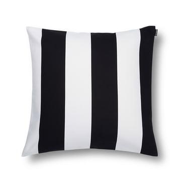 Marimekko – Juhlaraita pudebetræk, 50 x 50 cm, sort/hvid