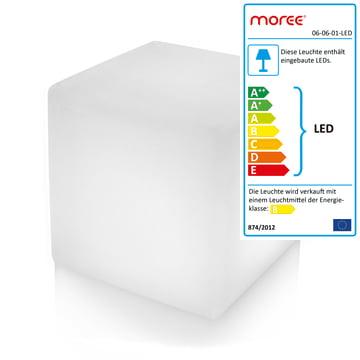 Moree – Cube Outdoor LED, gennemsigtig hvid