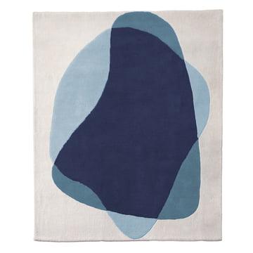 Serge tæppe fra Hartô i blå/grå