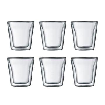 Bodum – Canteen glas, dobbeltvægget, 0,1 l, transparent (sæt med 6)