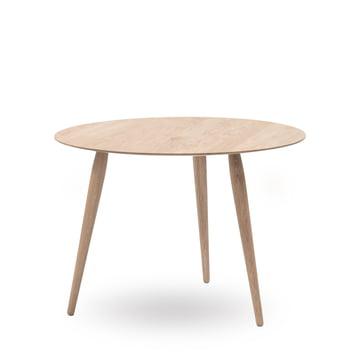 Playround sidebord i træ, Ø 90 cm, fra bruunmunch i sæbebehandlet eg